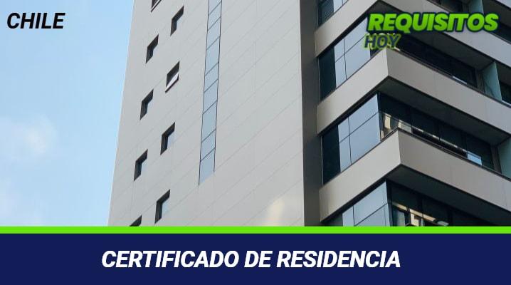 CERTIFICADO DE RESIDENCIA CHILE