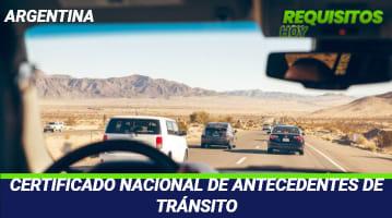 Certificado nacional de antecedentes de tránsito