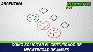 Certificado de negatividad