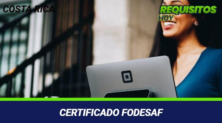 Certificado FODESAF