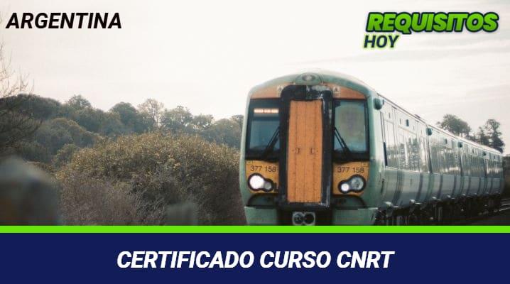 Certificado curso CNRT