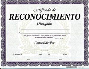 Certificado- De-reconocimiento