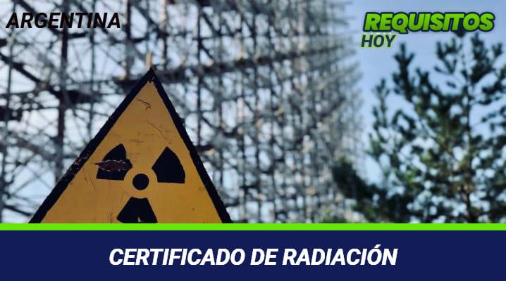 Certificado de radiación