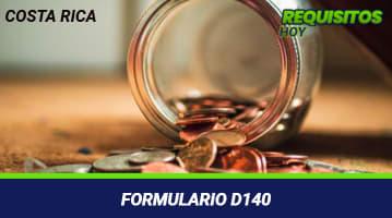 Formulario D140
