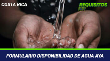 Formulario Disponibilidad de Agua AyA