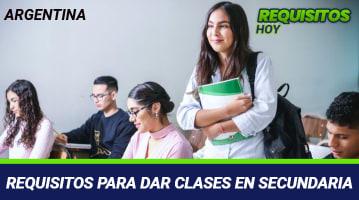 Requisitos para dar clases en secundaria