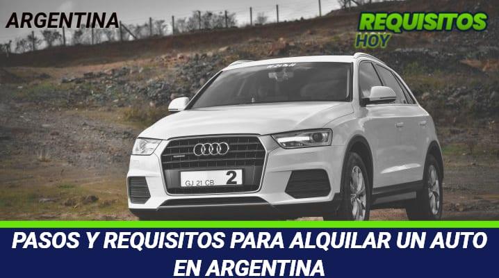 Requisitos para alquilar un auto en Argentina