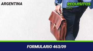 Formulario 463/09
