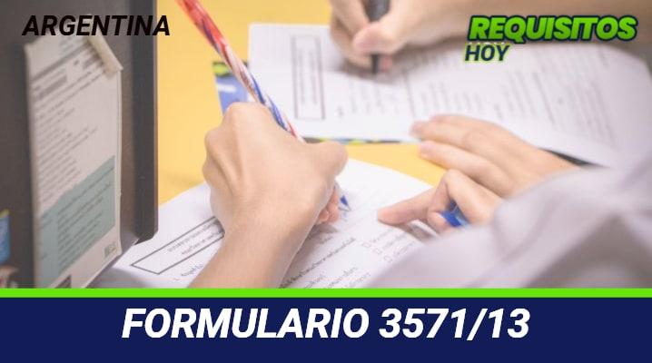 Formulario 3571/13