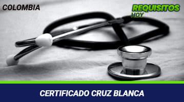 Certificado cruz blanca