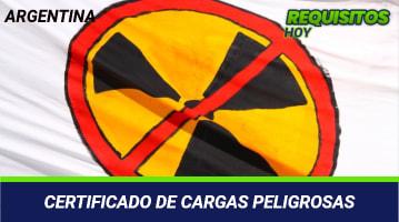 Certificado de cargas peligrosas