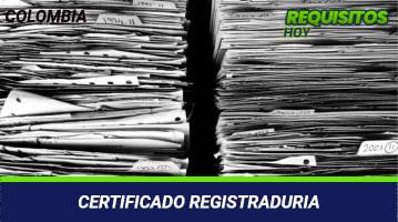Certificado registraduria
