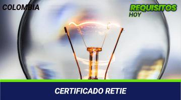 Certificado retie