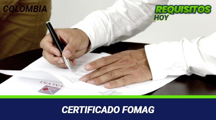 Certificado Fomag
