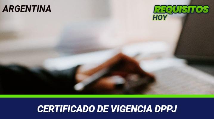 Certificado de vigencia DPPJ