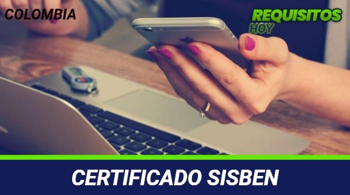 Certificado Sisbén