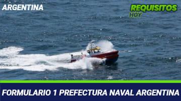 Formulario 1 Prefectura Naval Argentina