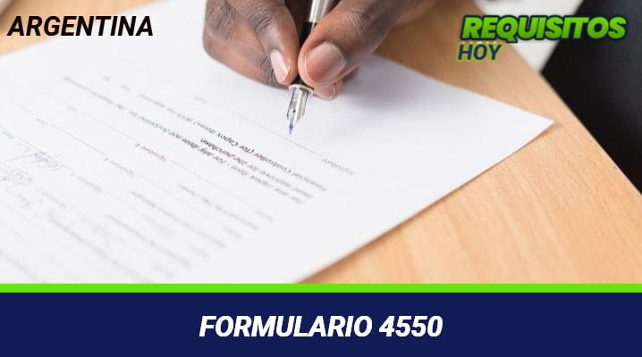 Formulario 4550