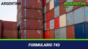 Formulario 743