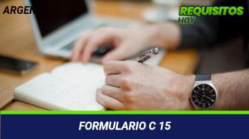 Formulario C 15