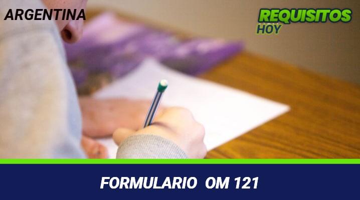 Formulario OM 121