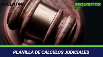 Planilla de cálculos judiciales