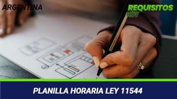 Planilla Horaria Ley 11544