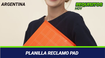 Planilla reclamo PAD
