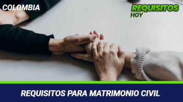 Requisitos para matrimonio civil