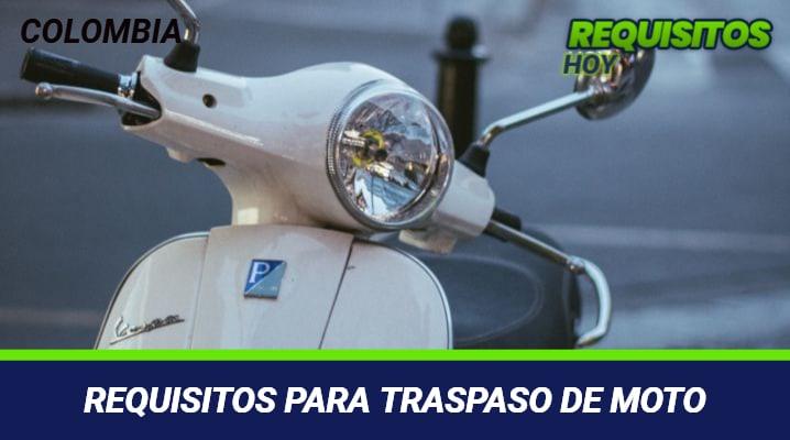 Requisitos para traspaso de moto
