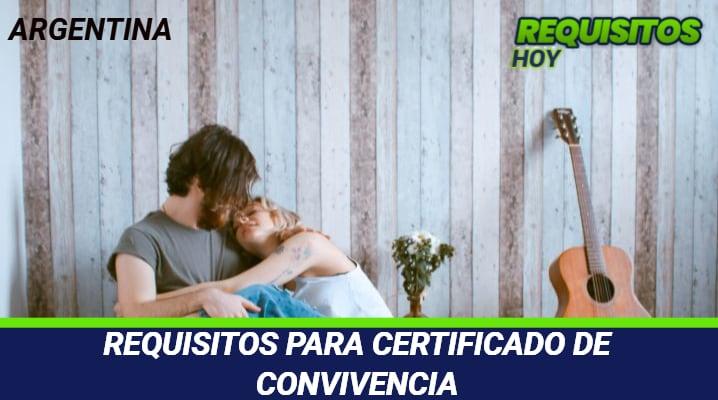 Requisitos para certificado de convivencia