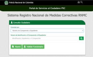 Sistema de Registro NAciconal de Medidas correctivas