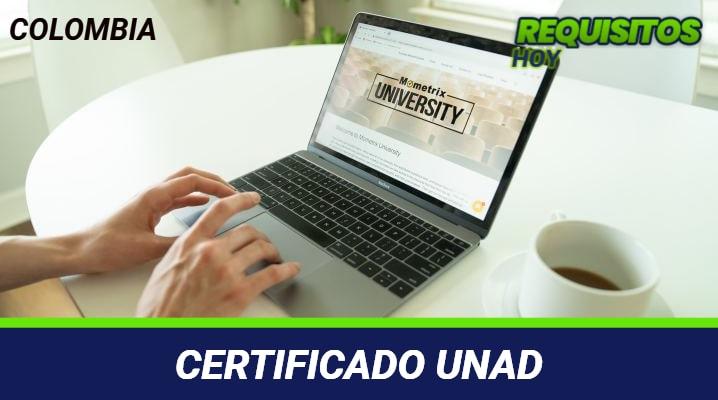 Certificado unad