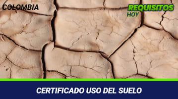 Certificado uso del suelo