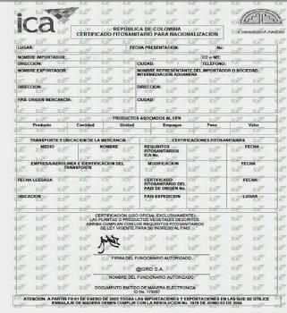 Certificado fitosanitario12